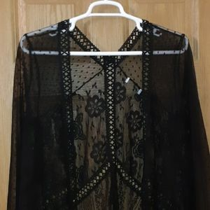 EUC Black Lace Overpiece 1x/2x